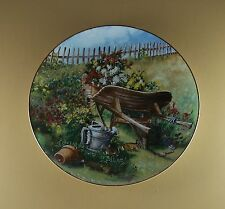 Flowers From Grandma's Garden HARVEST IN THE MEADOW Plate Floral #4 Glenna Kurz