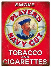 Players Cigarettes Reproduction Navy Cut Tobacco Sign