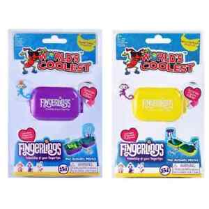 1 World's Coolest Fingerling with Suprise Figure Playset and Keychain, Assorted.