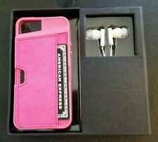 Design by Prestigex iPhone 5 case Pink  w/ wallet,  headphones (NIB) MSRP $39