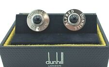 Alfred Dunhill JSE8234HK Round Black Onyx Sterling Silver Men's Cufflink's Gift