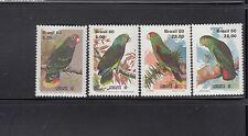Brazil 1980 Parrots Sc 1715-1718  Complete  Mint Never Hinged
