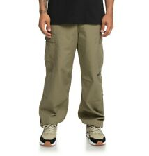 2019 MENS DC INFIELD MILITARY CARGO PANTS $70 32 Burnt Olive baggy fit cotton
