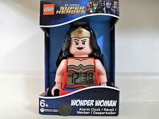 Lego Wonder Woman DC Comics Super Heroes Light Up Digital Alarm Clock 9009877