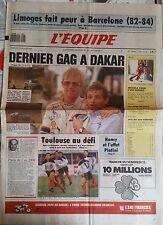 L'Equipe Journal 13/1/1989; Limoges-Barcelone/ Paris-Dakar/ Figini/ Tulasne