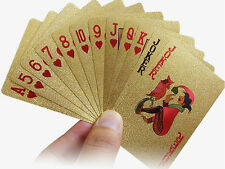 Plated Gold Foil Playing Cards Plastic Poker Cards Deck Magic Card Waterproof