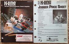 K-Line Machine Shop Equipment, Tools & Supplies Catalog w/ Price List