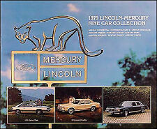 1979 Lincoln Mercury Sales Catalog Mark V Continental Town Car Collector Series