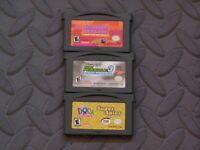 Lot Nintendo Game Boy Advance GBA Games Princess Natasha+ Dora Super Spies + KP3
