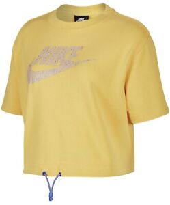 New Nike Womens sportswear Icon Clash Cropped Top Shirt Top Size M MSRP $50 NWT