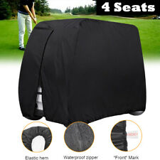 Universal 4 Seater Golf Buggy Cart Cover Breathable Waterproof Anti-UV W/ Zipper