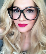 Oversized VICTORIA Cat Eye Clear Lens Women Large Fashion Eyeglasses Frames XL