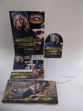 """2000 MADONNA """"MUSIC"""" JAPANESE IN STORE PROMOTIONAL DISPLAY SET USED COMPLETE"""