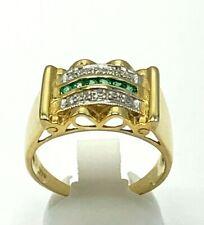 Ring Smaragd & Zirkonia   925er  Silber  ANTIK STYLE  # 54