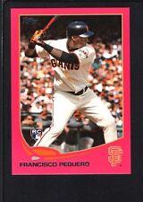 FRANCISCO PEGUERO 2013 TOPPS MINI #564 PINK PARALLEL GIANTS SP #02/25