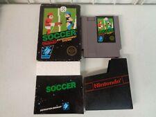 VINTAGE NINTENDO NES SOCCER GAME BLACK BOX CARDBOARD HANG TAG COMPLETE