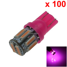 100x Pink Car T10 W5W Tail Bulb Clearance Lamp 10 7020 SMD LED A065