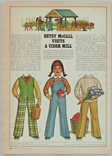 1979 McCalls Paper Dolls Betsy McCall Visits A Cider Mill Print Ad