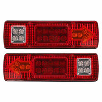 2 X12v LED Tail Lights Ute Trailer Caravan Truck Stop Indicator rear LAMP 19LED