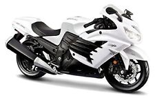 MAISTO 1:12 Kawasaki Ninja ZX 14R 12028 WHITE MOTORCYCLE BIKE DIECAST MODEL