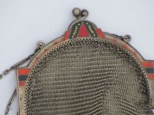 Antique Hallmarked Silver Enamel Purse