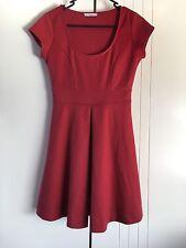 Womens Hot Option Red Sleeveless Classic Fall Cap Sleeve Dress Size 8