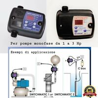 Pressostato elettronico interruttore a pressione regolazione autoclave 0,5-7 Bar