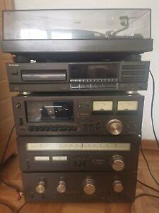 Technics Stereoanlage Plattenspieler + Kassettendeck + Tuner + Verstärker + CD