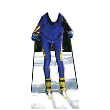CROSS-COUNTRY SKIER Stand-In CARDBOARD CUTOUT Standup Standee Standin FREE SHIP
