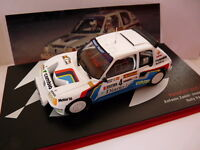 RES4M voiture 1/43 IXO Rallye ESPAGNE : PEUGEOT 205 T16 A ZANINI RACE 1985