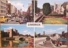 Irish Postcard LIMERICK City Multiview Ireland Treaty Stone Bunratty Hinde 1972