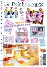 oop French cross stitch magazine Le Point Compte Bebe No.34 point de croix