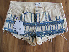Paige Denim Cut Off Shorty Mini Shorts -Echo Park Ecru Nomad-Size 29  NWT $139