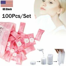 100 Pcs Disposable Compressed Face Towel Tablets Coin Tissue Home Salon Travel