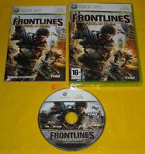 FRONTLINES FUEL OF WAR XBOX 360 Versione Italiana 1ª Edizione ••••• COMPLETO