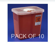 Sharps Container By Kendall Red 2 Gal Qty 10 PACK