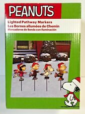 Peanuts Snoopy Charlie Brown Linus & Lucy Skating Lighted Pathway Markers