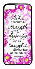 Case Cover For iPhone 6 6s Plus 5 5c 4s Christian Girl Quote Bible Verse Pattern