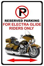 Harley Electra Glide Motorcycle Bike No Parking Sign NEW