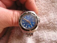 Vintage Cordura Watch Lady Sea Gull Blue Dial 17 Jewels Self Winding