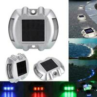 Solar Powered 6 LED Pathway Driveway Lights Dock Path Step Road Safety Marker