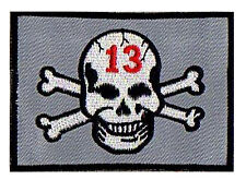 Badge patch écusson patche Skull 13 thermo Tête de mort