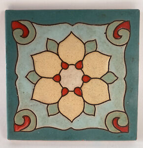 "Vintage Hand-Painted Classic Maibu/Catalina Decorative Tile 5""x5"" Trivet Coaster"