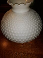10 inch Hobnail White Milk Glass Desk Lamp Shade