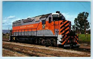 OROVILLE, CA California ~ WESTERN PACIFIC RAILROAD GP-4- Engine c1970s  Postcard