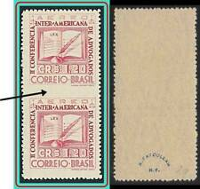 BRAZIL 1943 LAWYERS CONFERENCE pair imperforated BETWEEN SC#C54var MNH  RARE !!!