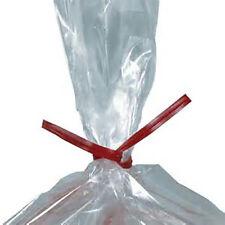 "(5000 pcs) Red Plastic Twist Ties 5/32"" x 6"" bag tie wholesale cello"
