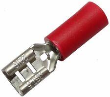 10x Cosse électrique femelle plate 4.8mm 0.5mm 0.5-1.5mm2 isolée rouge