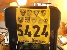 PETTORALE NUMERO DI GARA  1974  ENGADINA  ENGADIN SKIMARATHON SKI CLUB