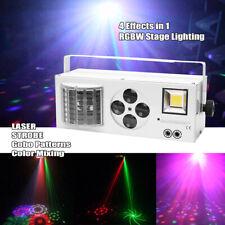 60W RGBW LED Laser Gobo Muster Strobe Bühnenlicht Remote Xmas Party DJ Show Bar
